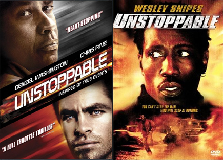 I mean seriously, both of these look like DTV covers. Just throw Cuba Gooding Jr. on there I guess.
