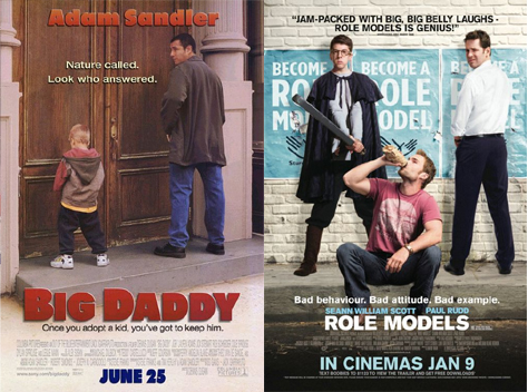 "DIAGRAM A: The ""Guy Pissing"" poster for movies about unlikely parental figures"