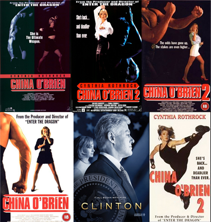 China O'Brien posters and video covers traditionally show some lady that might not even be Cynthia Rothrock, usually with a dude who's definitely not in the movie