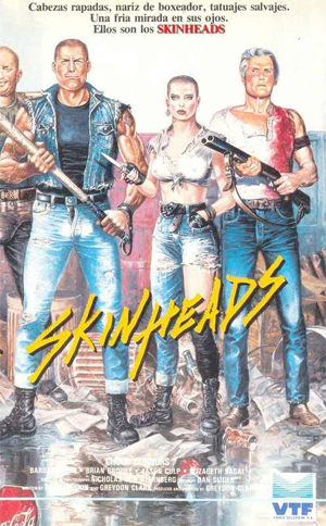 Cool poster art. Reminds me of CLASS OF 1984. But why does it look like Chuck is in the skinhead gang?