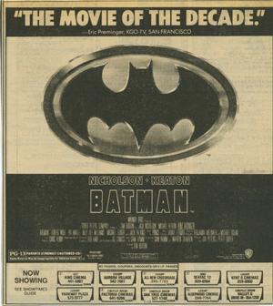Batman - Vern's Reviews on the Films of Cinema Vern's Reviews on the
